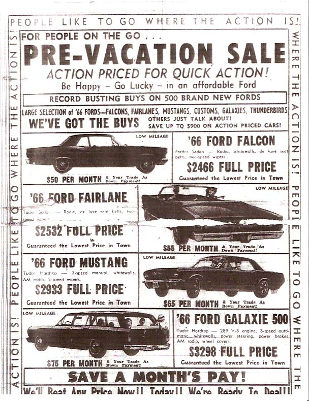 car ad province july 66