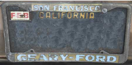 dealer geary ford san francisco ca license frame