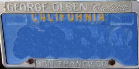 dealer george olsen cadillac san fran license