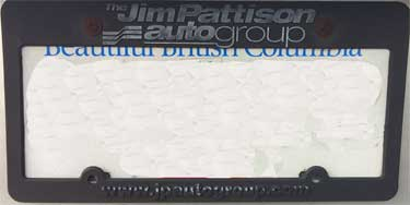 dealer jim pattison auto group license frame